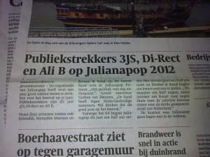 Julianapop krant